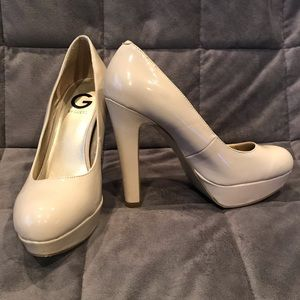 G By Guess Nude Platform Heels